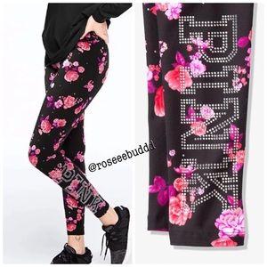🚨Last One! 🌺VS PINK Bling Floral Cotton Legging